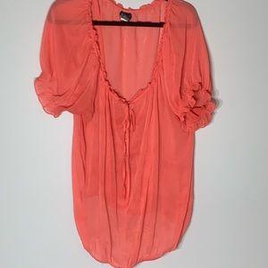 Torrid Loose Peach Short Sleeve Blouse 3